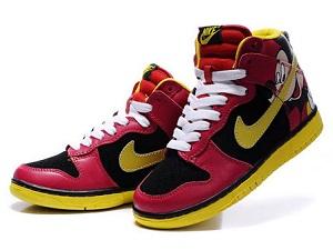 High Top Cartoon Nike Dunks Mickey Mouse Shoes For Sale In Kids