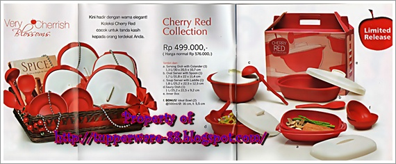 Tupperware-Cherry Red Collection