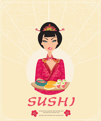 Set of Susi girl design vector
