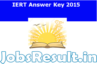 IERT Answer Key 2015