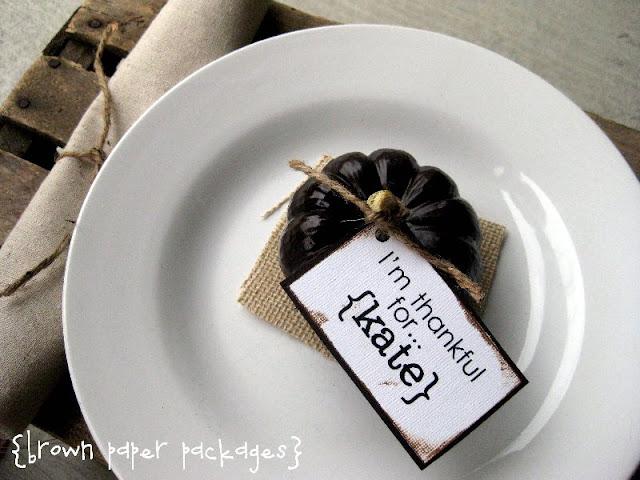Pumkin Placecard