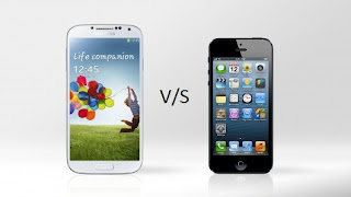 COMPARISION B/W IPHONE 5 AND SAMSUNG GALAXY S4