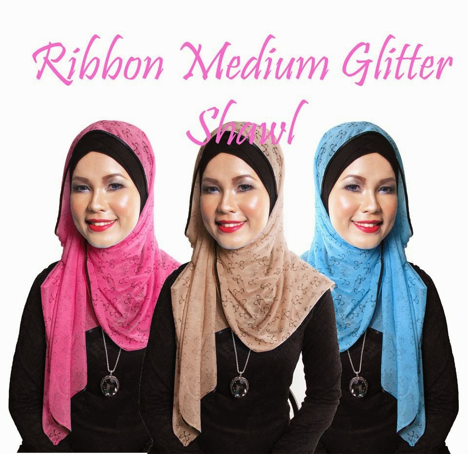 Glitter Ribbon Medium Shawl