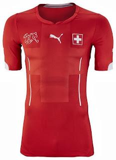 Le maillot de la Suisse de la Coupe du monde 2014