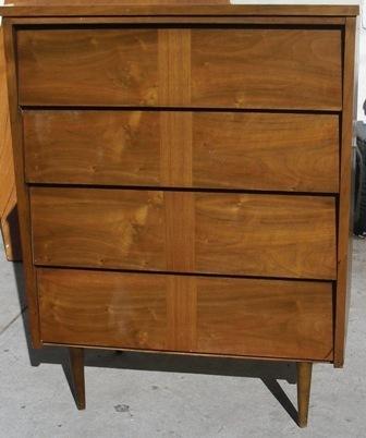 Angled / Louvered Drawers Mid Century Modern Dresser Circa 1960s   Ward  Furniture