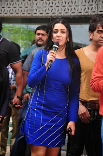 Actress Charmi Kaur Latest Pictures in Short Dress with R Rajkumar Movie Team at Yes Mart 0017
