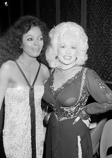 Photo of Diana Ross & her friend  Dolly
