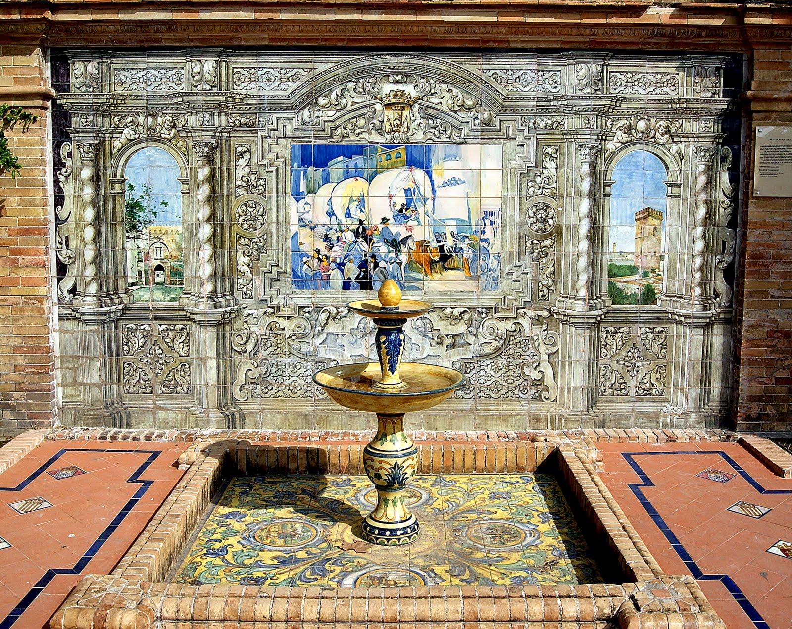 Leyendas de sevilla plaza de espa a versi n extendida for Azulejos antiguos sevilla