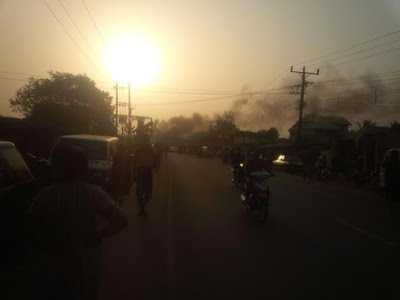 Horrible: Fire, Explosions Raze Down Two Petrol Stations In Nnewi, Still Burning (Photos)