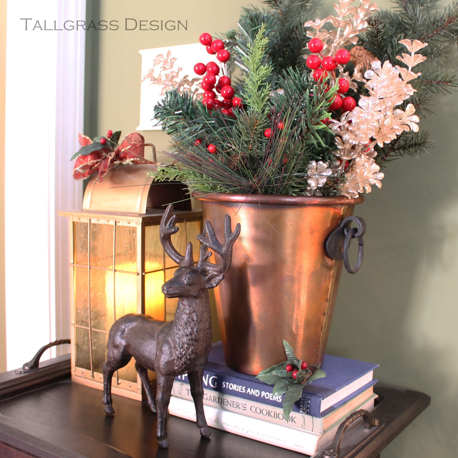 Tallgrass design another christmas vignette for Decor vignette