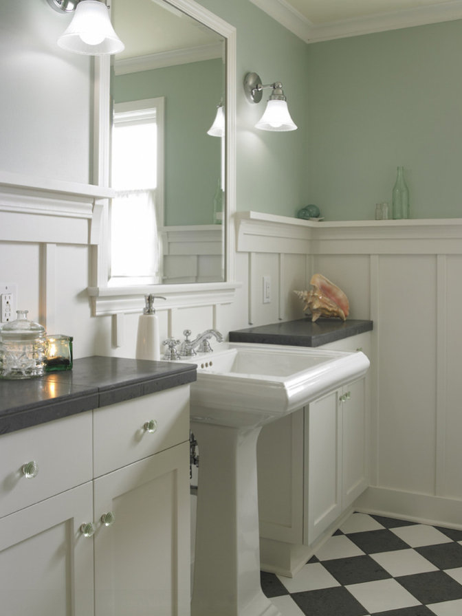 Twine how to update a 70 39 s bathroom for Wainscoting bathroom