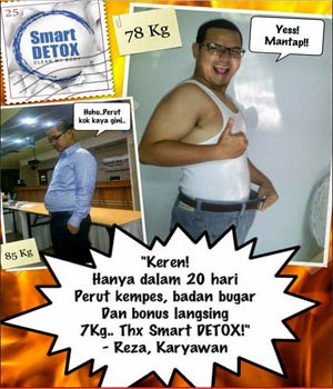 Jual Smart Detox Herbal Pelangsing Badan di Medan
