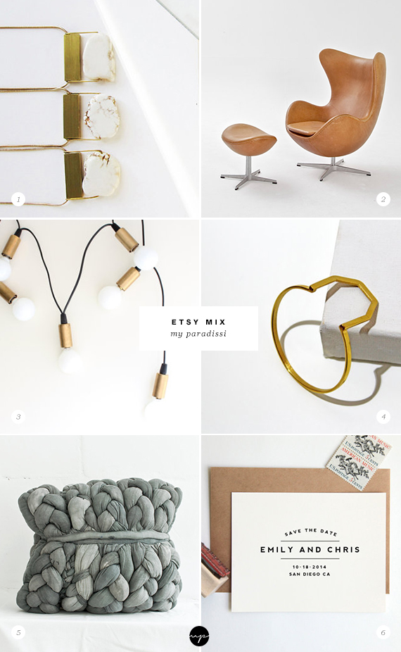 Handmade jewelry, lighting, stationery and homeware from Etsy