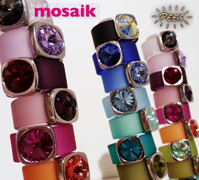 Ringar med swarovskikristall från Pees på Mosaik i Luleå