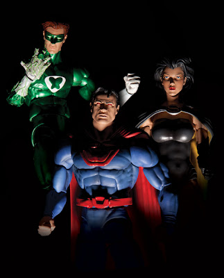 DC Colectibles Crime Syndicate - Power Ring - Ultra-Man - Super Woman Figures
