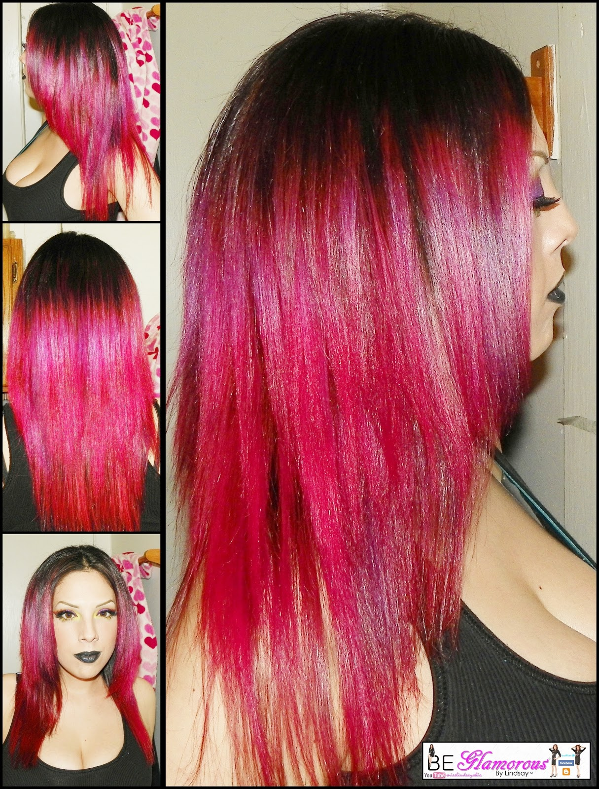 Red Purple Ombre Hair Now that my hair has faded,