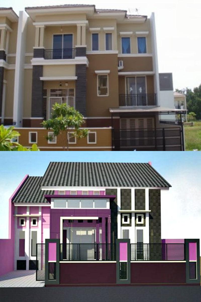 Kumpulan Desain Rumah Minimalis Modern Contoh Kombinasi Warna Cat