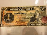 Los billetes emitidos por el Banco de Londres y México era hechos en Estados Unidos.