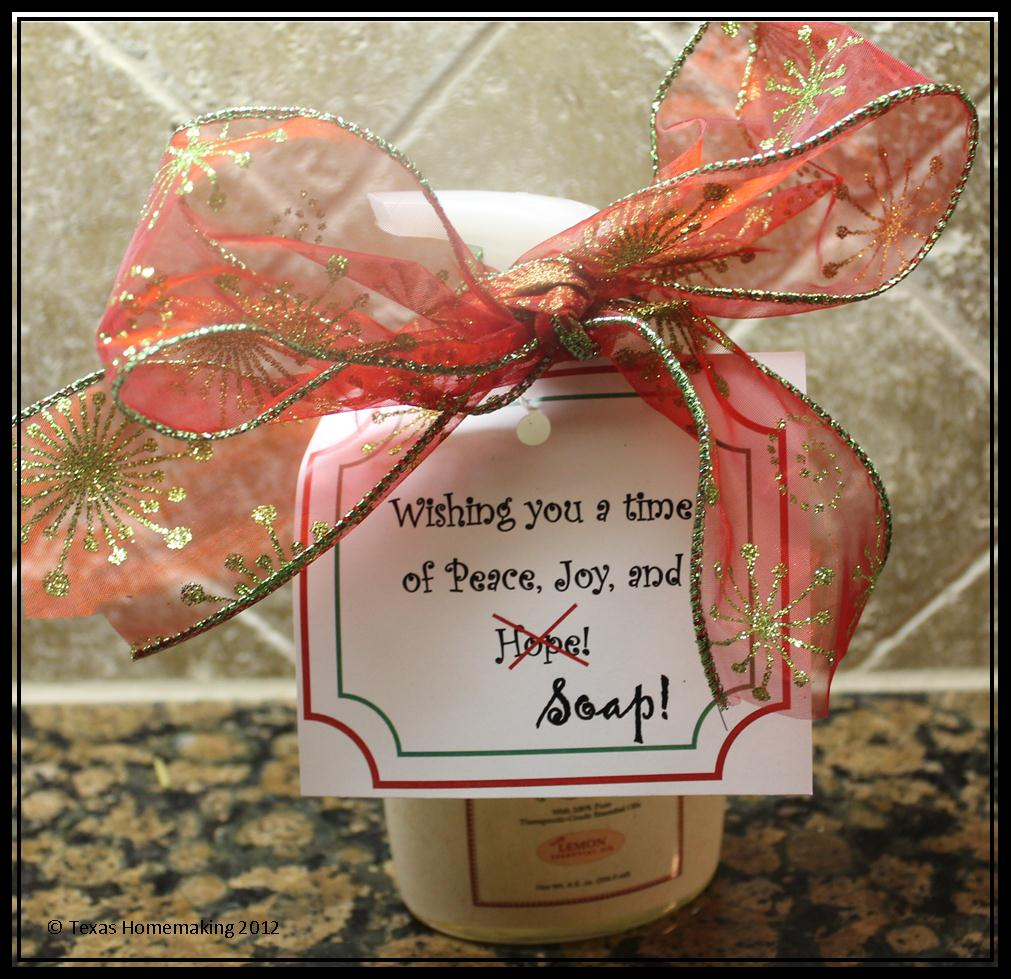 Texas Homemaking: A Pinterest Production :: Simple Christmas Gift ...