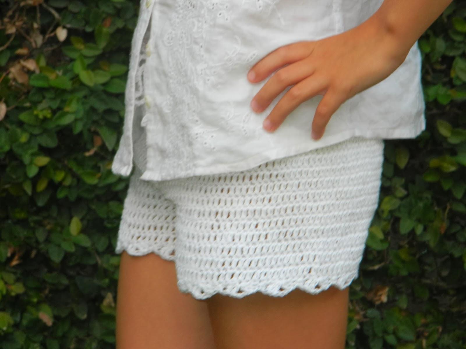 Tejiendo & Pensando: shorts a crochet