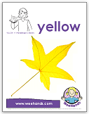 baby sign language - yellow - weehands poster
