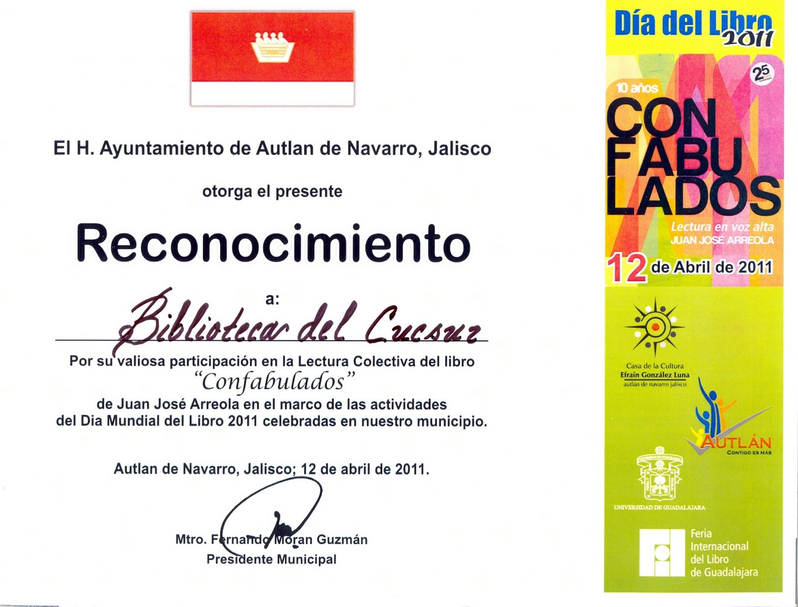 Diploma De Agradecimiento Por Participacion
