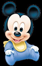 Mickey mouse bebe para invitaciones