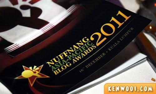 nuffnang blog awards 2011