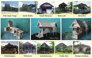 contoh miniatur rumah adat banjar