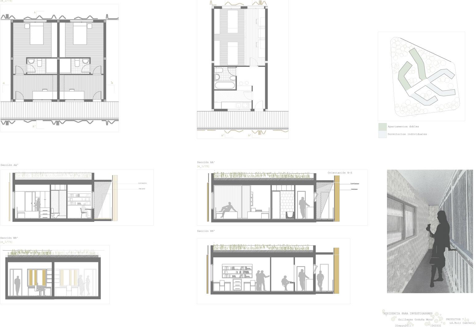 Guille ordu a proyecto anterior residencia de for Residencia para estudiantes