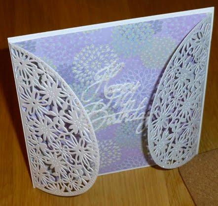 Floral Gate fold card