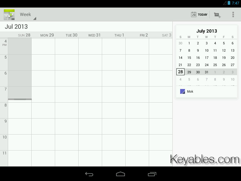 Android 4.3 Calendar