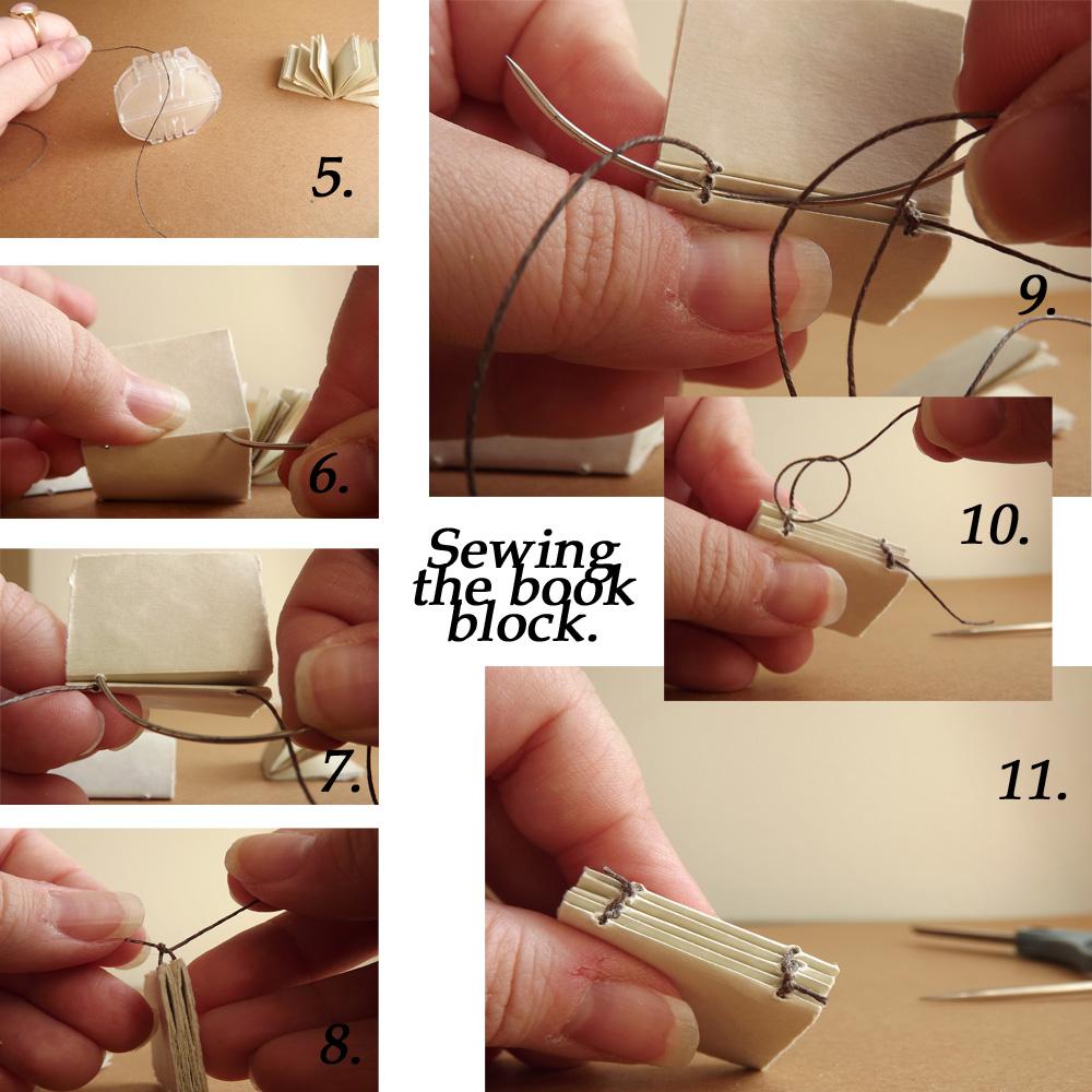 Wax your linen thread. (Or buy pre-waxed linen.)
