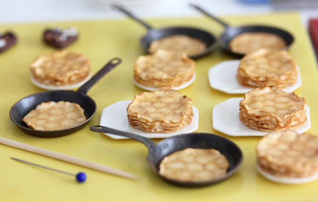 dollhouse miniature crepes or pancakes
