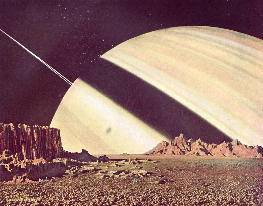 Chesley Bonestell pintura planetas