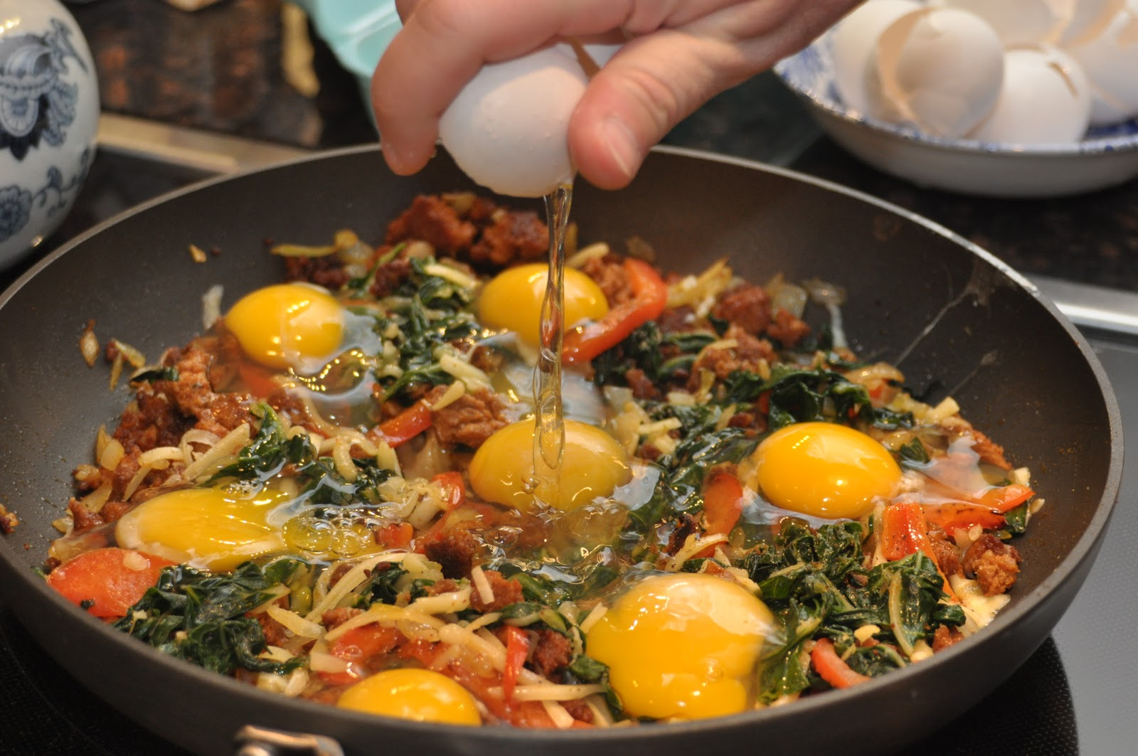 Made Like Madeley: Breakfast Skillet with Green Onion Home Fries