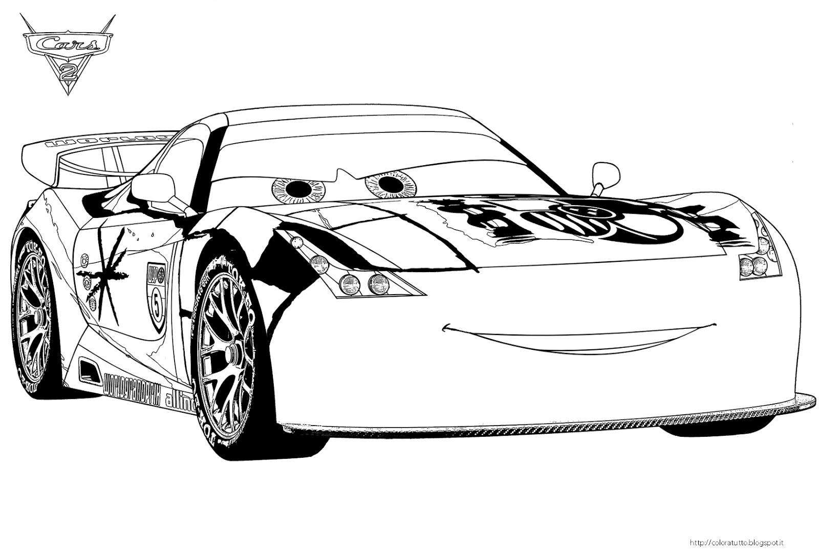 Cars 2 disegno da colorare n 7 for Disegno di cars 2 da colorare