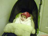 Little Ada in her stroller