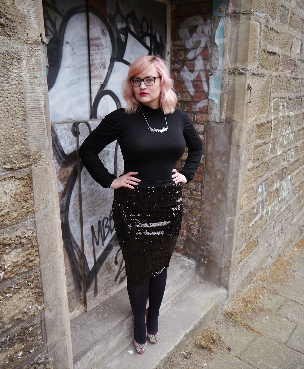 lady muck, laser cut jewellery, grafitti, Dundee photoshoot, peach hair DIY, polo neck, Scottish winter look,