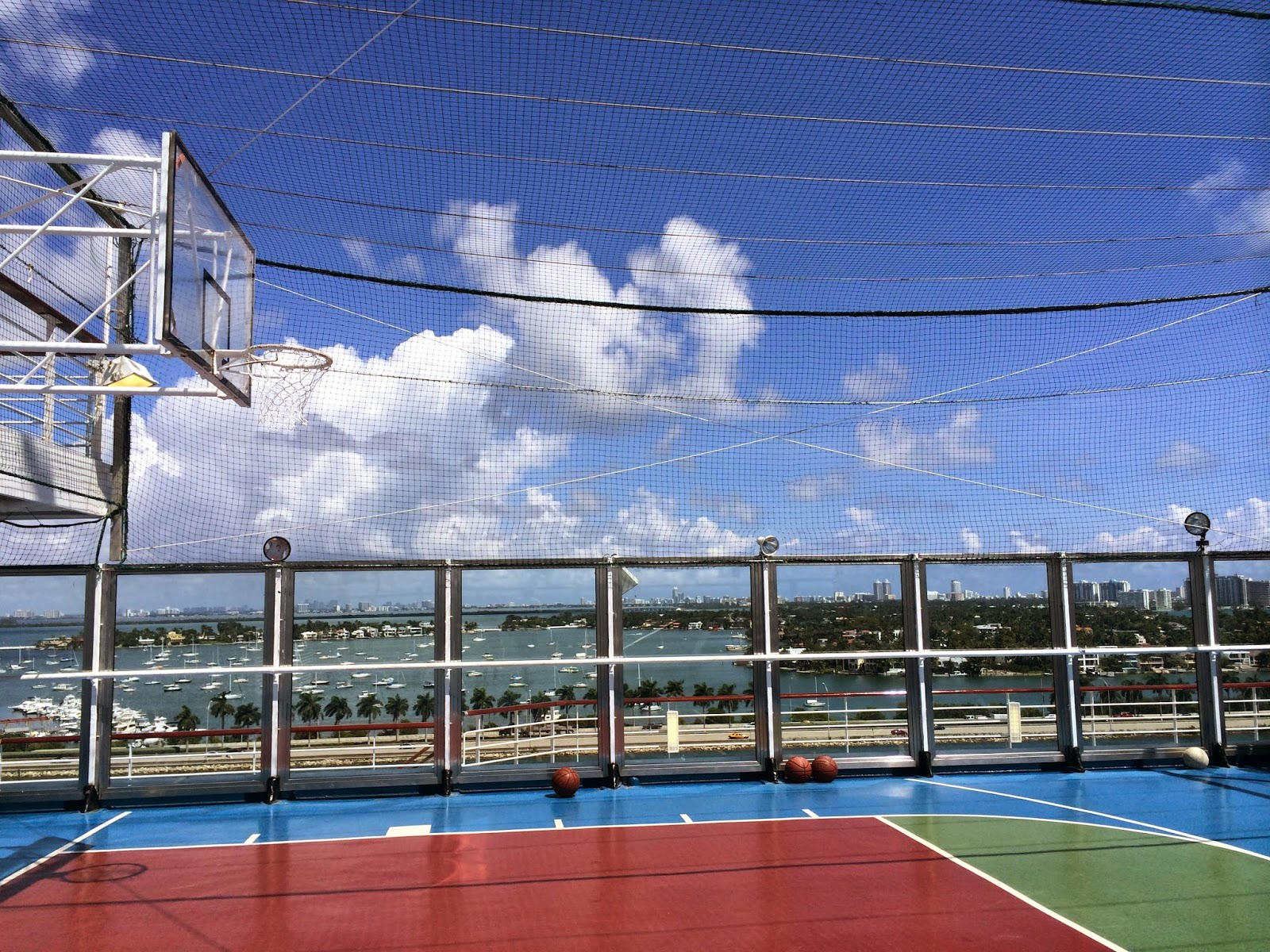 basketball court on a cruise ship