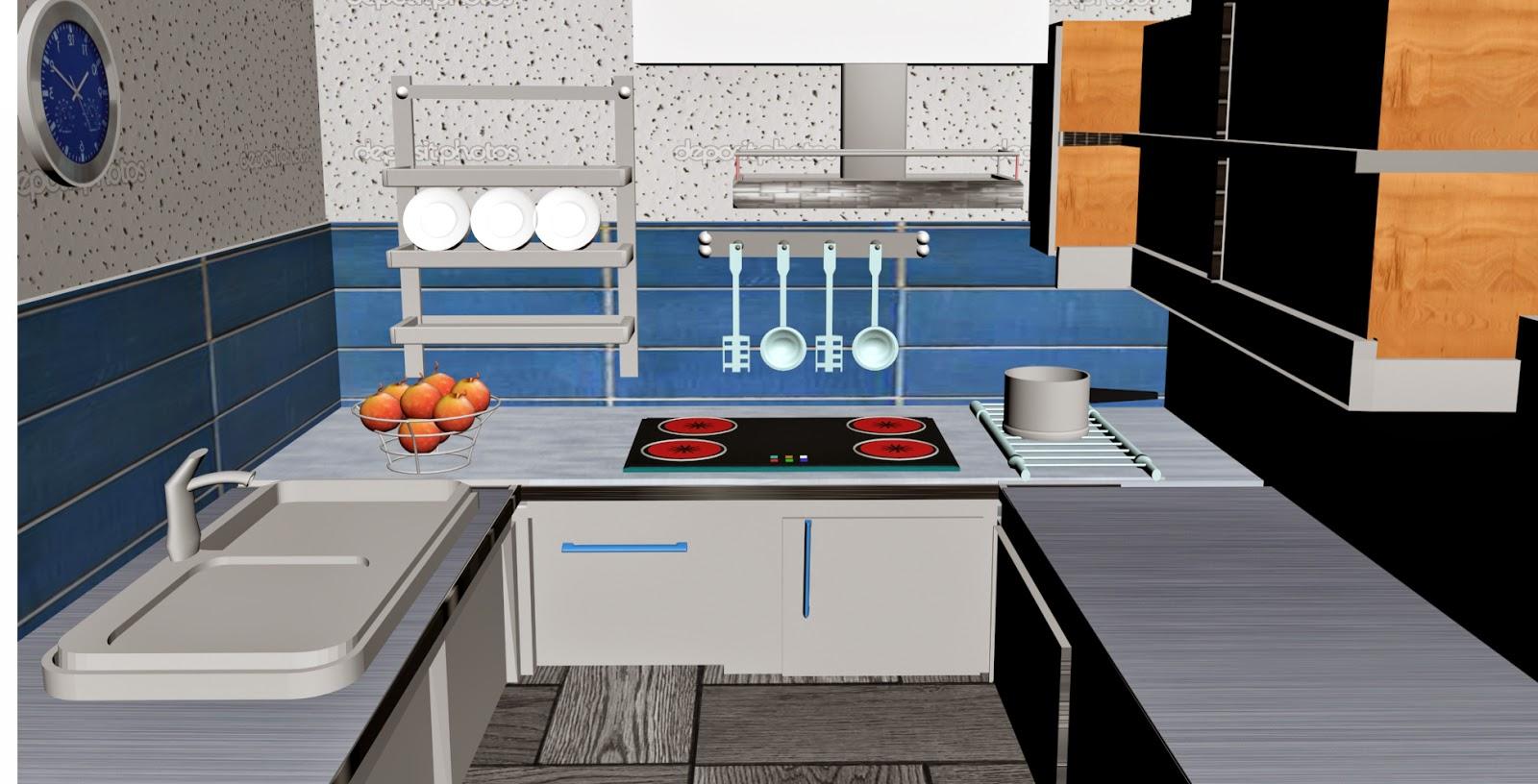 kitchen design 3ds max