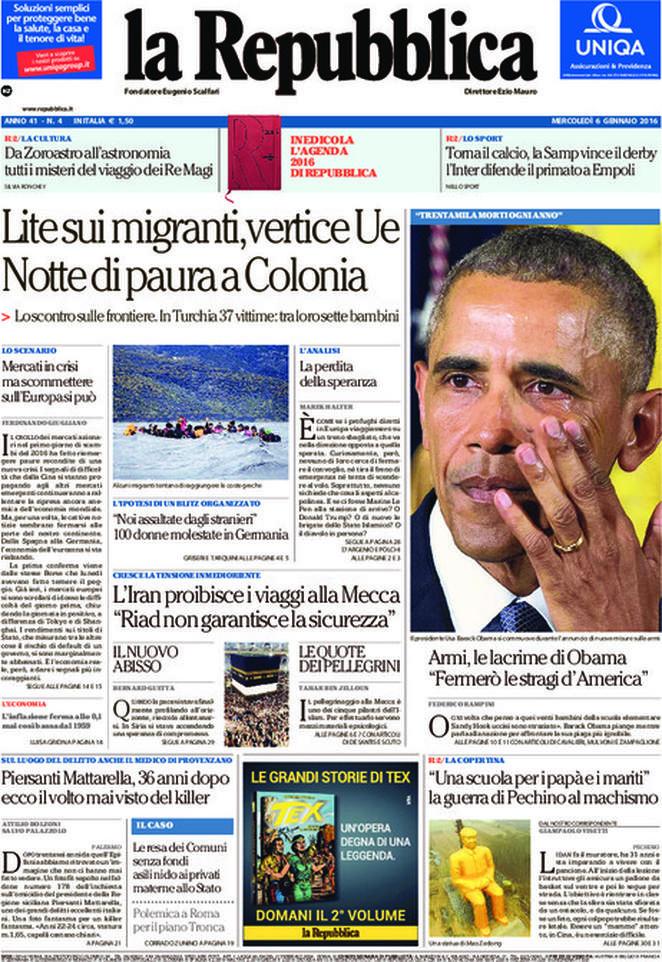 Reportages Quotidiani La Miglior Prima Pagina Di Oggi Mercoledì 6