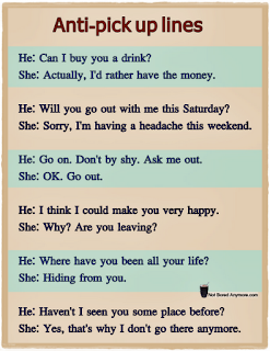 Has been looking into the cognitive psychology of pick up lines