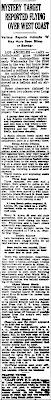 Guns Fire On 'Phantom' Obect (Body) - Bismarck Tribune 2-25-1942