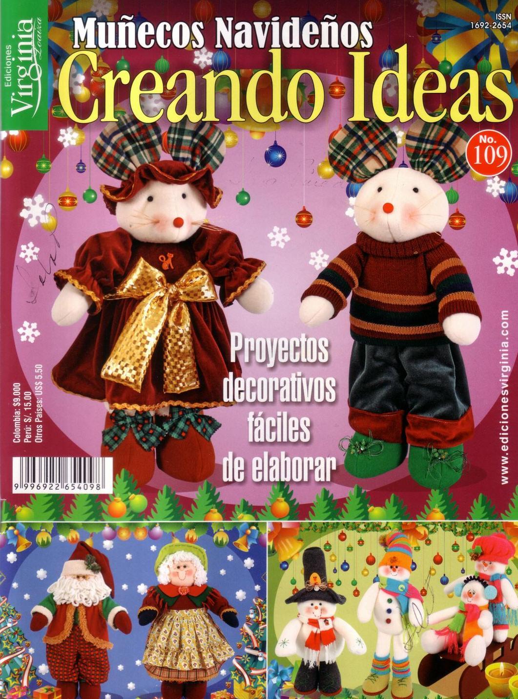 Revistas de manualidades gratis creando ideas mu ecos de - Manualidades munecos de navidad ...