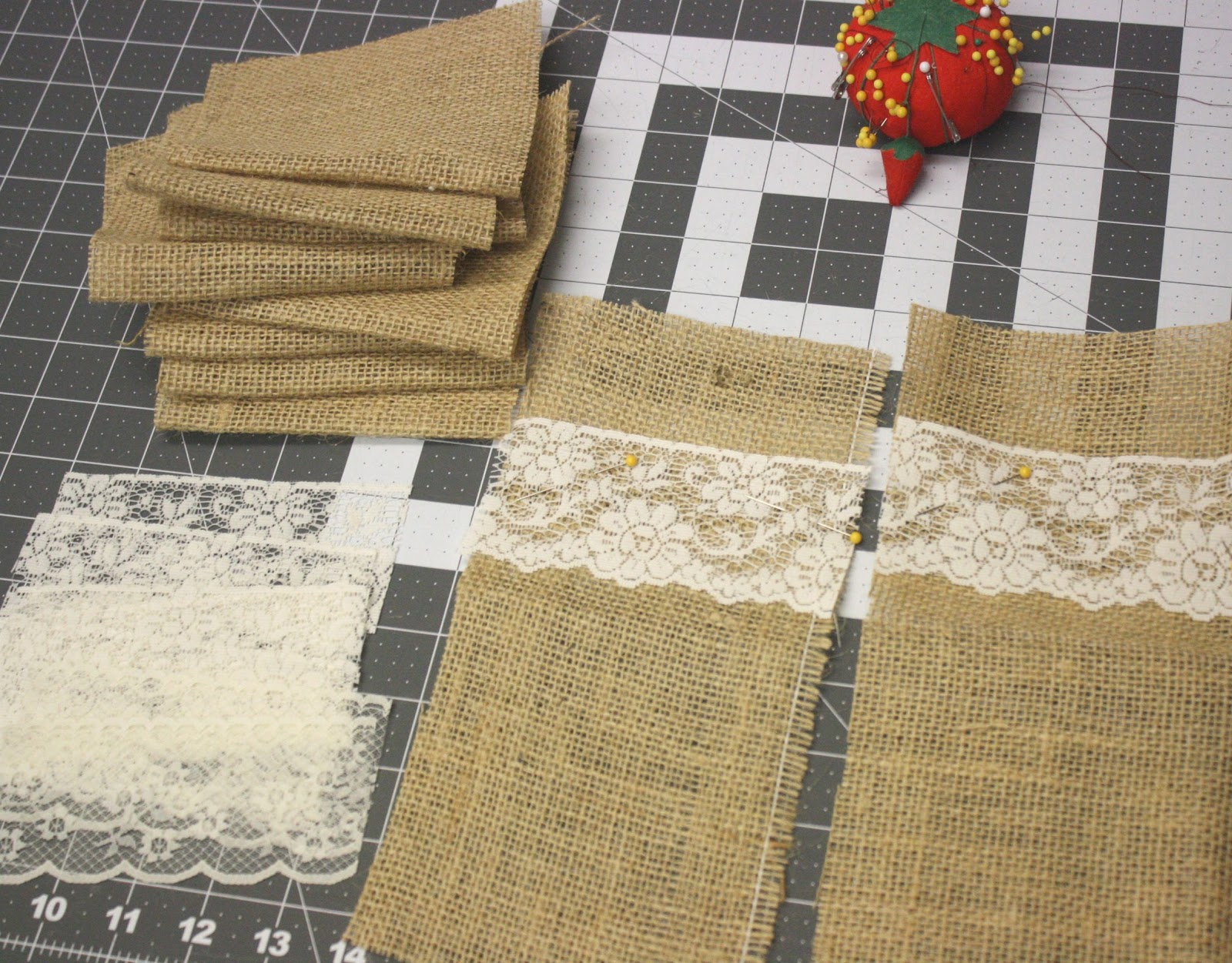 I Picked Up Plastic Treat Bags At Hobby Lobby So That Could Portion Out The Nuts Into Them And Then Slide Burlap