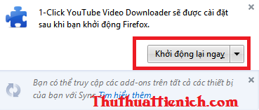Tải add-on 1-Click YouTube Video Download