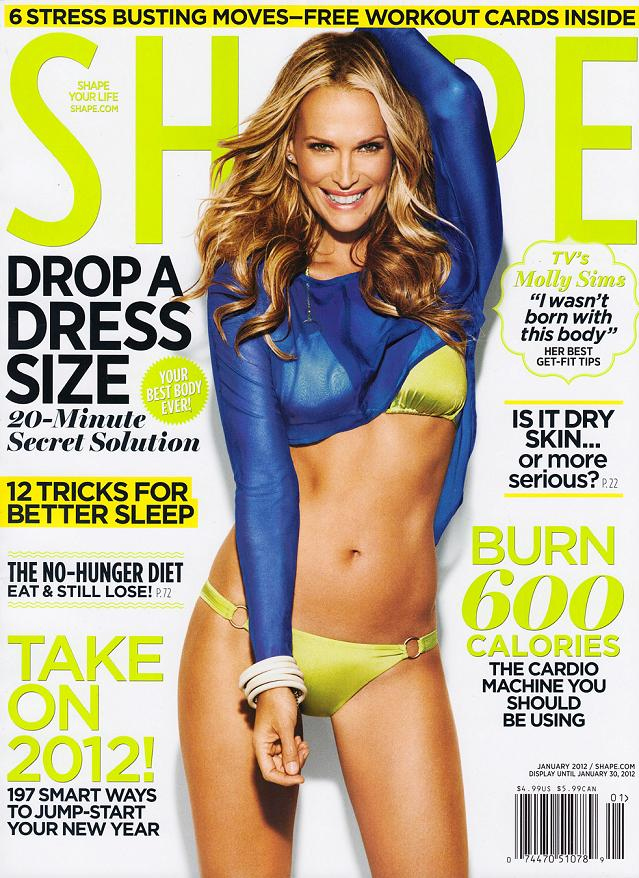Molly Sims for Shape US January 2012