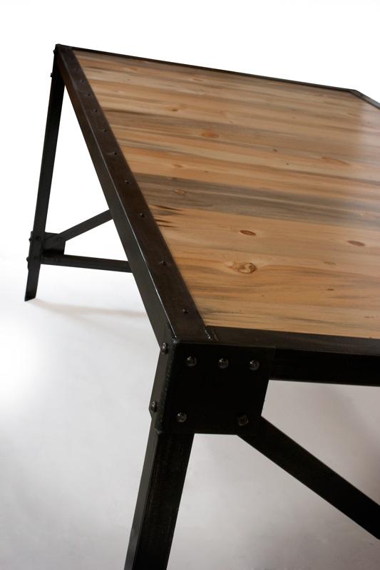Real Industrial Edge Furniture Llc Beetle Kill Pine Desk