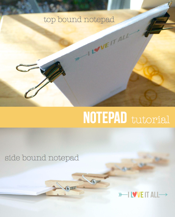 Filofax Friday Notepad Tutorial | iloveitallwithmonikawright.com